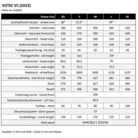VOTEC VC Comp - Cross Country Hardtail - black